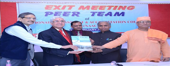 NAAC PEER TEAM REPORT BEING HANDED OVER TO THE PRINCIPAL